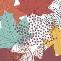 Serviettes 33x33 cm - Modern Leaves