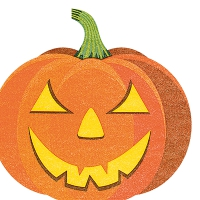 Servilletas troqueladas - Halloween pumpkin