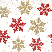 Napkins 33x33 cm - Moments Delicate snow