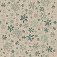 Servilletas 33x33 cm - Snowflakes pattern