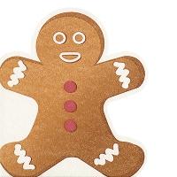 Servilletas troqueladas - Gingerbread man