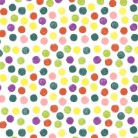 Napkins 24x24 cm - Playful dots