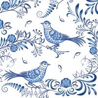Napkins 24x24 cm - Porcelain Bird