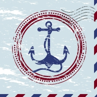 Napkins 33x33 cm - Anchor