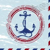 Serviettes 24x24 cm - Anchor