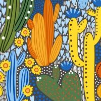 Serviettes 33x33 cm - Cacti color