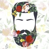 Napkins 33x33 cm - Beard n flowers