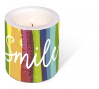 decorative candle - Smile