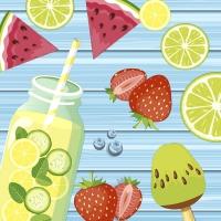 Napkins 24x24 cm - Summer fruits