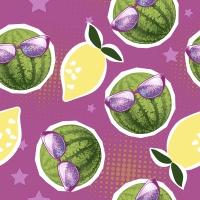 Napkins 33x33 cm - Lemons n watermelons