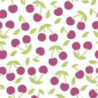 Servietten 33x33 cm - Cherries