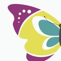 Gestanzte Servietten - Silhouettes Butterfly