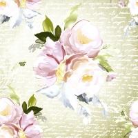 Servilletas 33x33 cm - Vintage roses