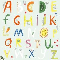 Serwetki 33x33 cm - Alphabet