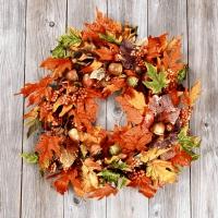 Napkins 33x33 cm - Leaf wreath