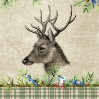 Napkins 33x33 cm - Deer