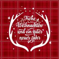 Serviettes 33x33 cm - Frohe Weihnachten
