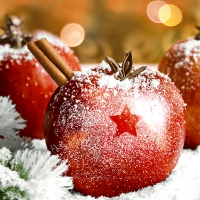 Napkins 33x33 cm - Christmas Apples