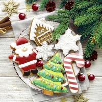 Serwetki 33x33 cm - Colorful cookies