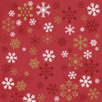 Napkins 33x33 cm - Traditional snow red