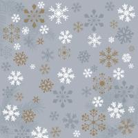 Napkins 33x33 cm - Traditional snow grey