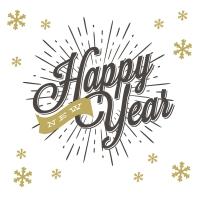 Serviettes 33x33 cm - New year