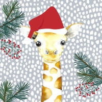 Napkins 33x33 cm - Giraffe santa