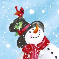 Serwetki 33x33 cm - Happy snowman