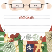 Napkins 33x33 cm - Hello Santa