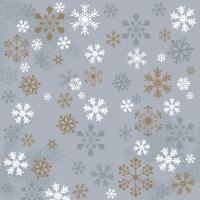 Napkins 24x24 cm - Traditional snow grey