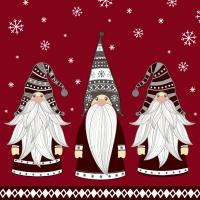 Napkins 24x24 cm - Gnomes