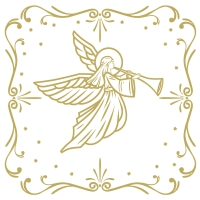 Serwetki 33x33 cm - Moments Angel Deco