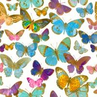 Napkins 33x33 cm - Golden butterflies