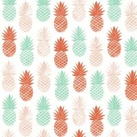 Napkins 33x33 cm - Pinappel pattern