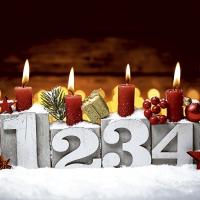 Servilletas 33x33 cm - Four candles