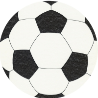 Die-cut napkins - Fußball