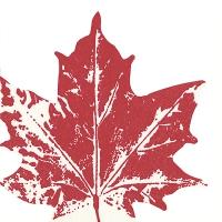 Servilletas troqueladas - Maple leaf red