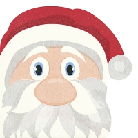 Serwetki wykrawane - Santa