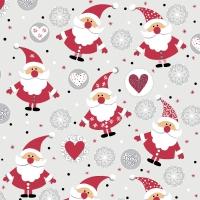Servilletas 24x24 cm - Funny Santas