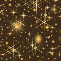 Napkins 24x24 cm - Glittering stars