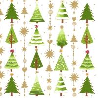 Serviettes 33x33 cm - Fine little trees