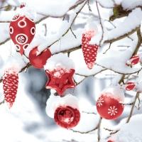 Napkins 33x33 cm - Winter snowy