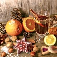 Napkins 33x33 cm - Taste of Advent