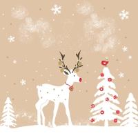 Napkins 33x33 cm - Cute deer