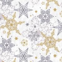 Napkins 33x33 cm - Delicate stars silver