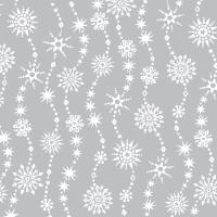Servietten 33x33 cm - Chrystal waves silver