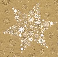 Serwetki 33x33 cm - Moments My Xmas star gold