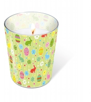 glass candle - Easter pleasure