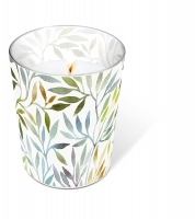 glass candle - Willow leaves