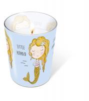 glass candle - Glaskerze Little mermaid